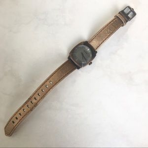 "Nixon The Luca ""WHAT CURFEW?"" Watch, leather strap"